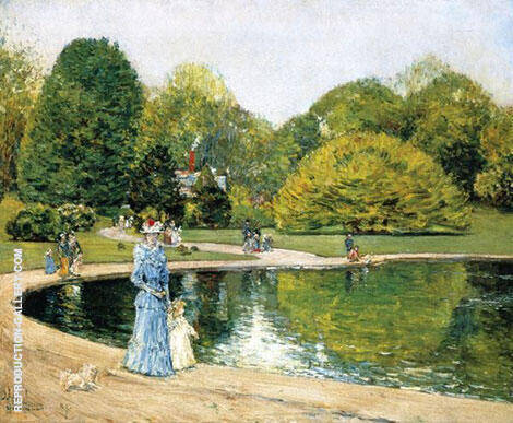 Central Park 1892 By Childe Hassam Replica Paintings on Canvas - Reproduction Gallery