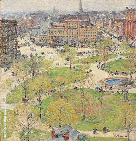 Union Square in Spring 1896 By Childe Hassam