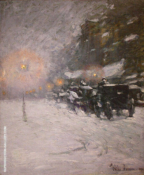 Winter Midnight 1894 By Childe Hassam