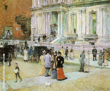 Reproduction of The Manhattan Club The Stewart Mansion 1891 by Childe Hassam | Oil Painting Replica On CanvasReproduction Gallery