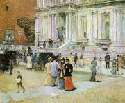 The Manhattan Club The Stewart Mansion 1891 By Childe Hassam