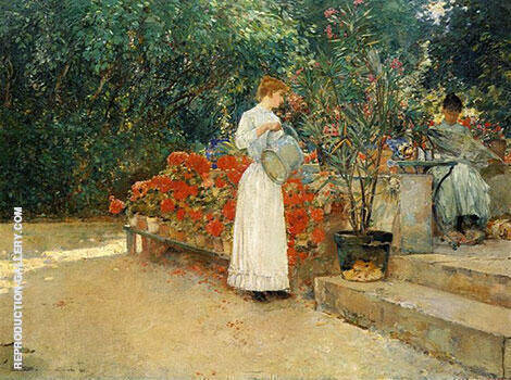After Breakfast 1887 By Childe Hassam - Oil Paintings & Art Reproductions - Reproduction Gallery