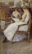 Mrs Hassam and Her Sister 1889 By Childe Hassam