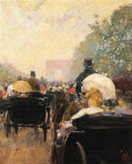 Carriage Parade 1888 By Childe Hassam