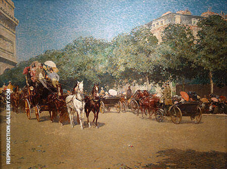 Grand Prix Day 1887 By Childe Hassam - Oil Paintings & Art Reproductions - Reproduction Gallery
