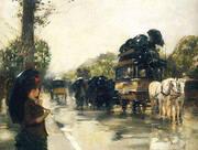 April Showers Champs Elysees Paris 1888 By Childe Hassam