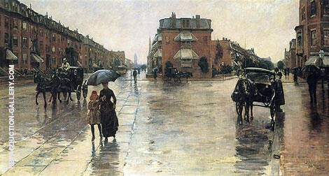 Rainy Day Columbus Avenue Boston 1885 By Childe Hassam