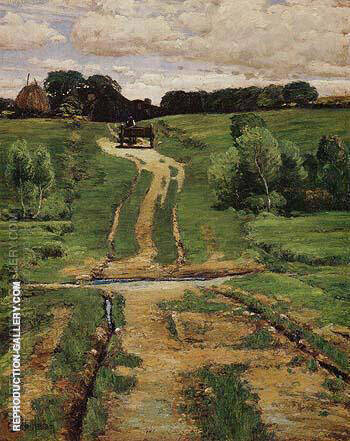 A Back Road 1884 By Childe Hassam