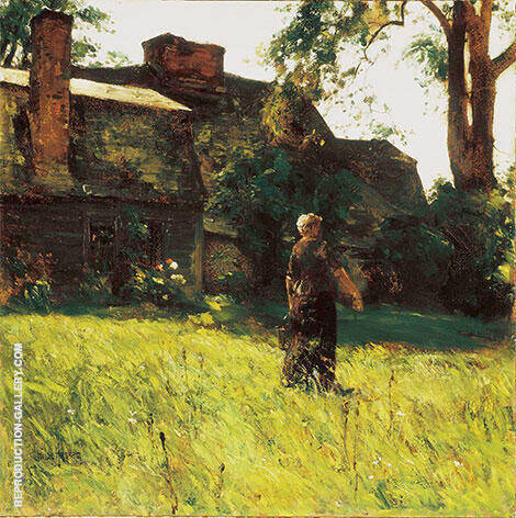 The Old Fairbanks House Dedham Massachusetts 1884 By Childe Hassam