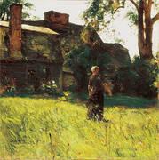 The Old Fairbanks House Dedham Massachusetts 1884 By Childe Hassam