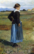 French Peasant Girl 1883 By Childe Hassam