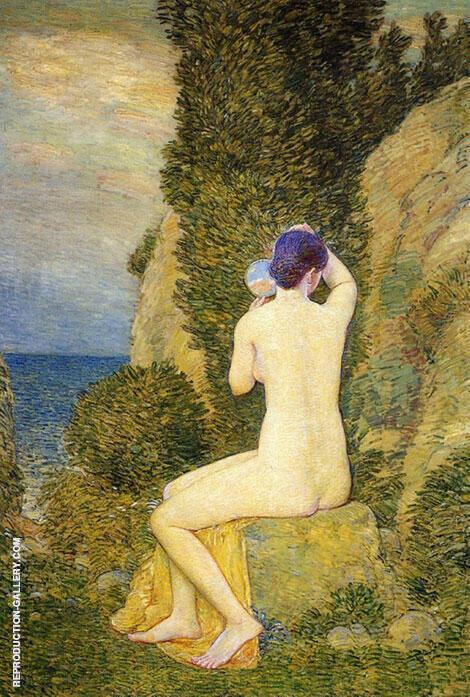 Reproduction of Aphrodite by Childe Hassam | Oil Painting Replica On CanvasReproduction Gallery