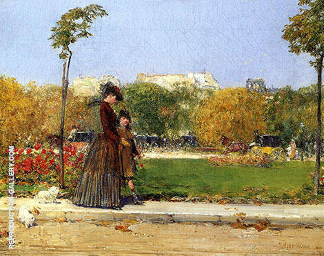 In the Park 1889 By Childe Hassam - Oil Paintings & Art Reproductions - Reproduction Gallery