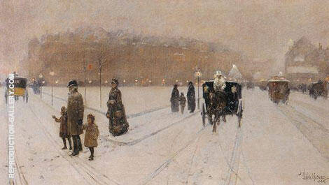 A City Fairyland 1886 By Childe Hassam - Oil Paintings & Art Reproductions - Reproduction Gallery