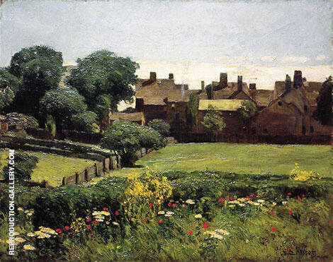 Village Scene 1883 By Childe Hassam - Oil Paintings & Art Reproductions - Reproduction Gallery