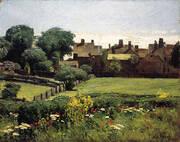 Village Scene 1883 By Childe Hassam