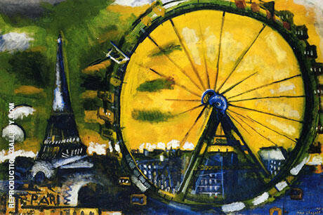La Grande Roue 1911 (Big Wheel) By Marc Chagall