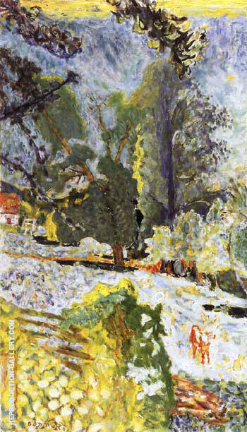 Normandy Landscape 1920 Painting By Pierre Bonnard - Reproduction Gallery