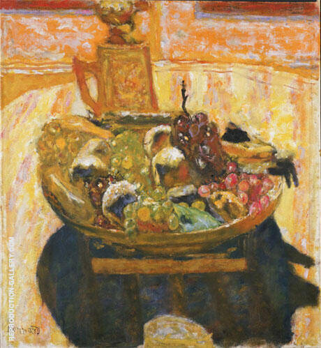 Still Life with Bowl of Fruit 1933 By Pierre Bonnard