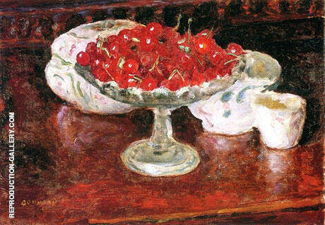Bowl of Cherries Painting By Pierre Bonnard - Reproduction Gallery