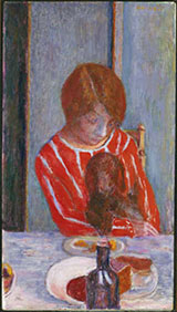 Woman with Dog 1922 By Pierre Bonnard