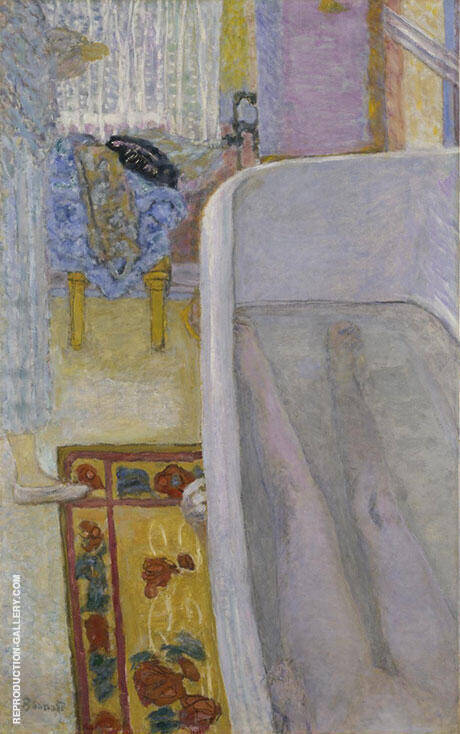 Nude in the Bath, 1925 By Pierre Bonnard