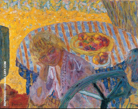 Young Women in the Garden (Renee Monchaty and Marthe Bonnard) 1921 By Pierre Bonnard - Oil Paintings & Art Reproductions - Reproduction Gallery