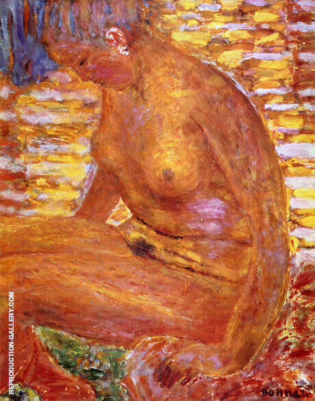 Sombre Nude 1939 Painting By Pierre Bonnard - Reproduction Gallery