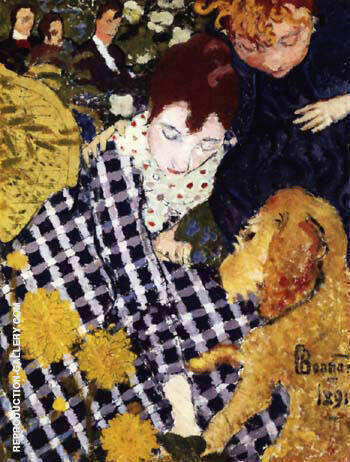 Woman with Dog 1891 By Pierre Bonnard