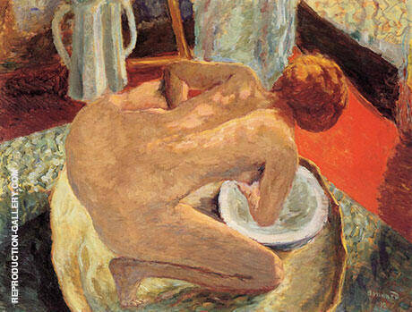 Woman in a Tub 1912 Painting By Pierre Bonnard - Reproduction Gallery