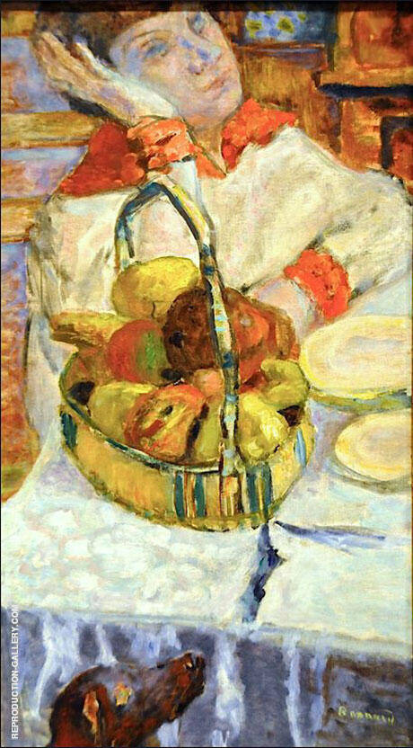 Woman with Basket of Fruit 1915 By Pierre Bonnard
