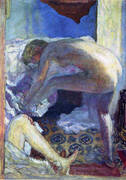 Large Nude in Blue 1924 By Pierre Bonnard