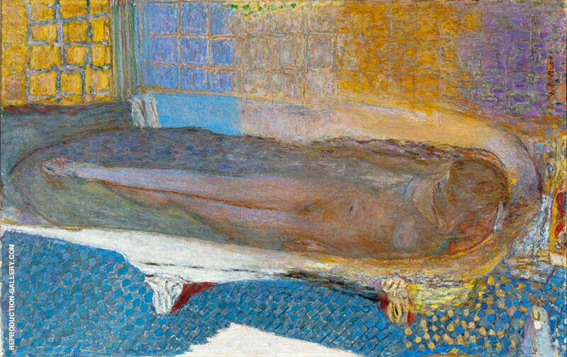 Nude in the Bath 1936 By Pierre Bonnard Replica Paintings on Canvas - Reproduction Gallery