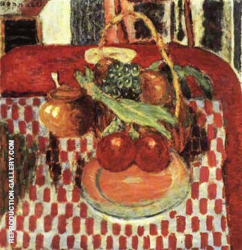 Reproduction of Basket and Plate of Fruit on a Red-checkered Tablecloth 1938 by Pierre Bonnard | Oil Painting Replica On CanvasReproduction Gallery