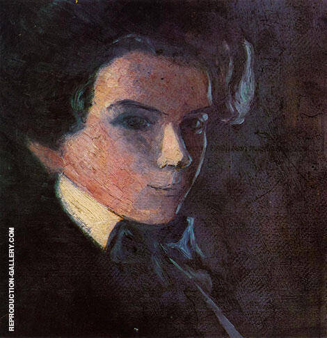 Self-Portrait, Facing Right 1904 By Egon Schiele - Oil Paintings & Art Reproductions - Reproduction Gallery