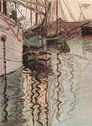 Harbour of Trieste 1907 By Egon Schiele