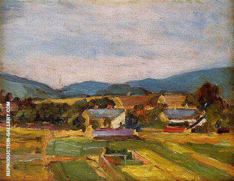 Landscape in Lower Austria 1907 By Egon Schiele - Oil Paintings & Art Reproductions - Reproduction Gallery