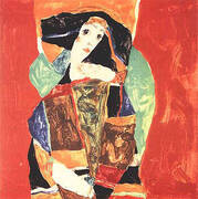 Portrait of a Woman (Valerie Neuzil) 1912 By Egon Schiele