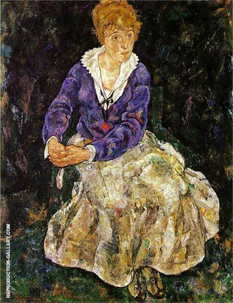 Portrait of the Artist's Wife, Seated 1918 Painting By Egon Schiele
