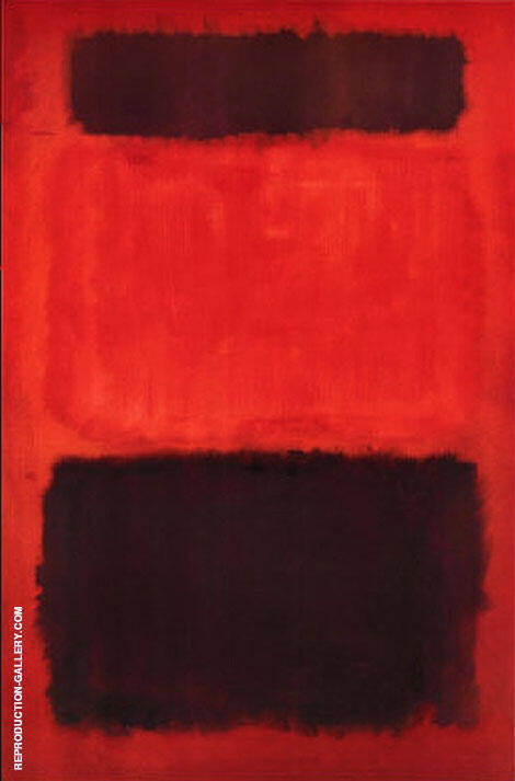 Brown and Blacks in Red 1957 By Mark Rothko Replica Paintings on Canvas - Reproduction Gallery