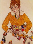 The Arist's Wife, Seated 1917 By Egon Schiele