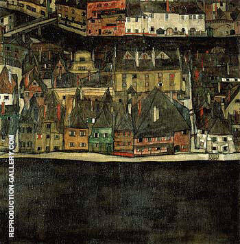 The Small City III By Egon Schiele - Oil Paintings & Art Reproductions - Reproduction Gallery