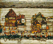Houses with Laundry (Suburb II) 1914 By Egon Schiele