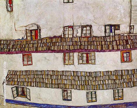 Facade of a House (Windows) 1914 By Egon Schiele