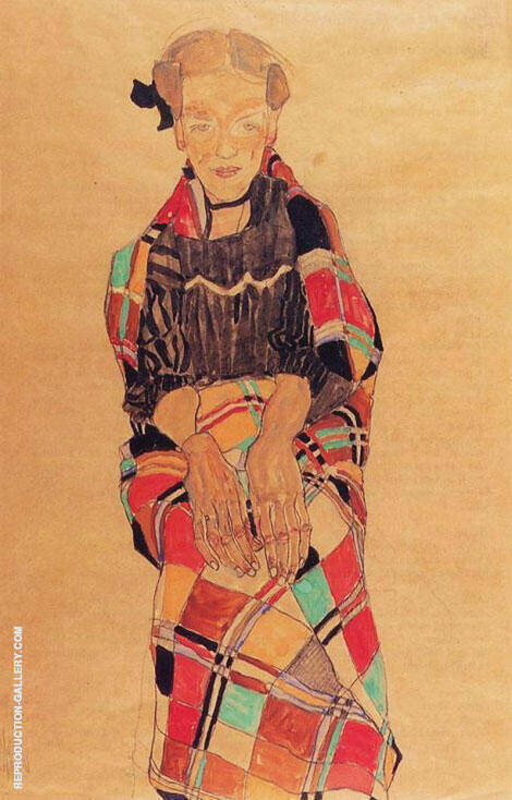 Portrait of Poldi Lodzinsky By Egon Schiele Replica Paintings on Canvas - Reproduction Gallery