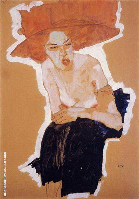 Reproduction of The scornful Woman (Gertrude Schiele) 1910 by Egon Schiele | Oil Painting Replica On CanvasReproduction Gallery