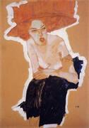 The scornful Woman (Gertrude Schiele) 1910 By Egon Schiele