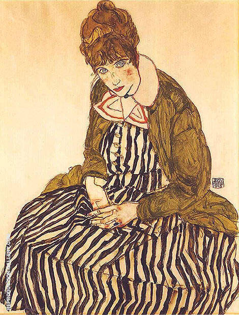 Reproduction of Edith Schiele, Seated, 1915 by Egon Schiele | Oil Painting Replica On CanvasReproduction Gallery