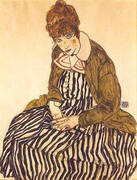 Edith Schiele, Seated, 1915 By Egon Schiele