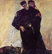 The Hermits,1912 By Egon Schiele